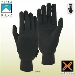 テラノバ 21SLG シルクライナーグローブ TERRANOVA 防寒手袋 登山手袋 ウインターグローブ マウンテングローブ|bagpacks