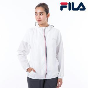 FILA フィラ 正規代理店 レディース アウター ウィンドウジャケット ジップアップ スポーツ アウトドア レジャー トレーニング 軽量素材 撥水機能 折り畳み可…の画像