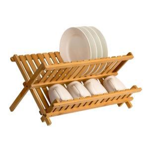 木製 ディッシュラック 食器 皿立て カップ立て 竹製|bagus-co