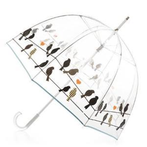 ビニール傘 ドーム型 おしゃれで可愛い 小鳥モチーフ|bagus-co