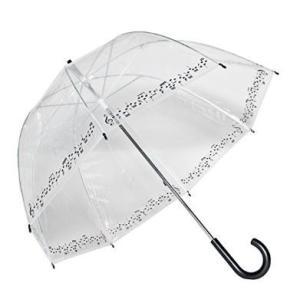 ビニール傘 ドーム型 おしゃれで可愛い 音楽 音符モチーフ|bagus-co