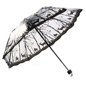 ビニール傘 折り畳み式 おしゃれで可愛い 森と動物モチーフ|bagus-co