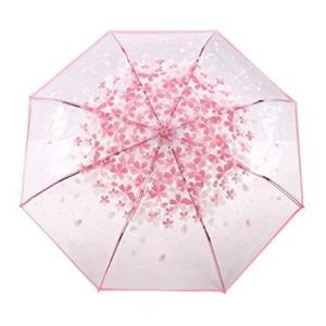 ビニール傘 折り畳み式 おしゃれで可愛い 花柄モチーフ ピンク|bagus-co