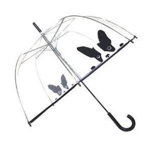 ビニール傘 ドーム型 おしゃれで可愛い 犬 フレンチブルドッグモチーフ|bagus-co