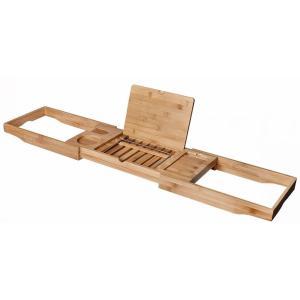 木製 バスタブトレー バスタブラック バスブックスタンド テーブル お風呂 癒し|bagus-co