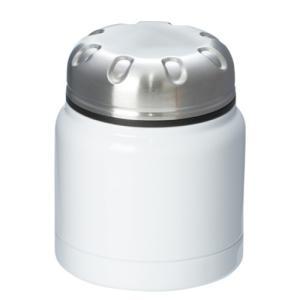 ステンレスフードポット シンプル 320ml ホワイト フードジャー 真空構造|bagus-co
