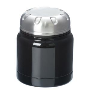 ステンレスフードポット シンプル 320ml ブラック フードジャー 真空構造|bagus-co