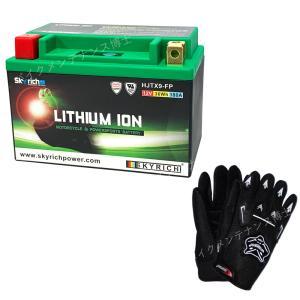 【グローブ付】 SKYRICH リチウムイオンバッテリー 【互換 ユアサ YTX9-BS GTX9-BS】 即使用可能|baikupatuhakase
