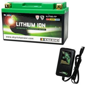 バイクバッテリー充電器セットSKYRICH【スカイリッチ専用充電器】+リチウムイオンバッテリーユアサYT7B-BS YT7B-4 FT7B-4 マジェスティ シグナスX 即使用可能|baikupatuhakase