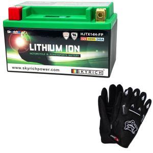 【グローブ付】 SKYRICH リチウムイオンバッテリー 【互換 ユアサYT12A-BS FT12A-BS GT12A-BS】 即使用可能|baikupatuhakase