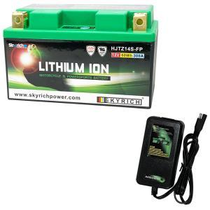 バイクバッテリー充電器セットSKYRICH【スカイリッチ専用充電器】+リチウムイオンバッテリー 互換 ユアサ TTZ12S YTZ12S FTZ12S DTZ12-BS フォルツァ VTR1000F|baikupatuhakase