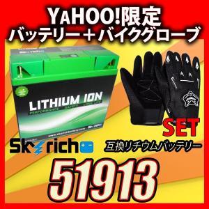 グローブ付!SKYRICHリチウムイオンバッテリー 互換ユアサ 51913 BMW R1200RT K1200RS/GT、K1200LTなど|baikupatuhakase