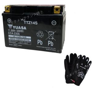 グローブ付! 台湾 YUASAユアサ TTZ14S 互換 YTZ14S FTZ14S DTZ14-BS SC54 CB1300 スーパーボルドール 初期充電済 即使用可能|baikupatuhakase