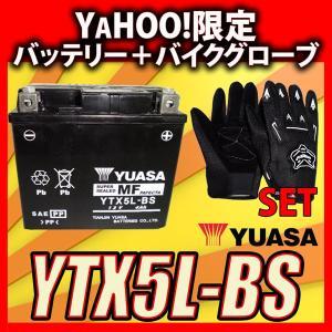 グローブ付! YUASAユアサ YTX5L-BS 互換DTX5L-BS FTX5L-BS GTX5L-BS アドレス110 アドレスV100 スペイシー100 リード100 初期充電済 即使用可能|baikupatuhakase