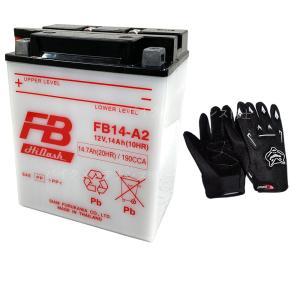 グローブ付! 古河電池(FB) フルカワバッテリーFB14-A2 互換ユアサYB14-A2 CB750 RC42 CBX750F RC17 XLV750R RD01 ナイトホーク RC39 VF750F RC15|baikupatuhakase