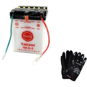グローブ付! YUASA ユアサ YB2.5L-C 開放型 バイクバッテリー 互換 FB2.5L-C GM2.5A-3C-2 互換 NSR80 HC06 NSR50 AC10 MTX50 AD04 CRM50 AD10 CB125JX JC09|baikupatuhakase