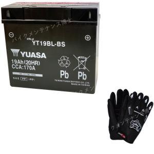 グローブ付! 台湾 YUASA ユアサ YT19BL-BS 初期充電済 即使用可能 互換 BMW 51913 K1100LT / RS (1990-1995) K1200LT K1200RS K1300GT EXIDE 61212346800|baikupatuhakase