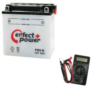 【デジタルテスターセット】 PERFECT POWER PB9-B 開放型バイクバッテリー 液別【互換 ユアサ YB9-B FB9-B DB9-B GM9Z-4B】|baikupatuhakase