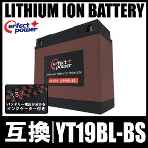 PERFECT POWER LFP19BL-BS リチウムイオンバッテリー 互換 YT19BL-BS BMW 51913 EXIDE-61212346800|baikupatuhakase