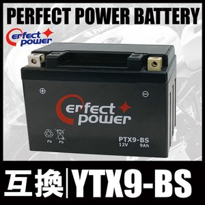 PERFECT POWER PTX9-BS バイクバッテリー充電済 互換 YTX9-BS DTX9-BS FTX9-BS GTX9-BS 即利用可|baikupatuhakase