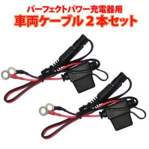 パーフェクトパワーフルオート充電器用 車両ケーブル 2個セット SAE端子|baikupatuhakase