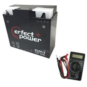 【デジタルテスターセット】 PERFECT POWER 51913  バイクバッテリー充電済 【互換 YT19BL-BS BMW 51913  EXIDE-61212346800】 即使用可能|baikupatuhakase