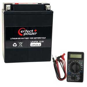 【デジタルテスターセット】 PERFECT POWER LFP12A-A リチウムイオンバッテリー 【互換 YUASAユアサ YB12A-A  FB12A-A 12N12A-4A-1】|baikupatuhakase