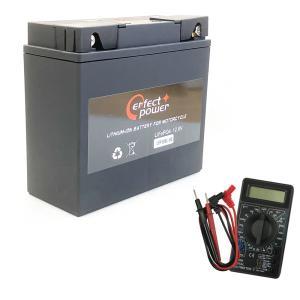 【デジタルテスターセット】 PERFECT POWER LFP19BL-BS リチウムイオンバッテリー 【互換 YT19BL-BS BMW 51913 EXIDE-61212346800】|baikupatuhakase