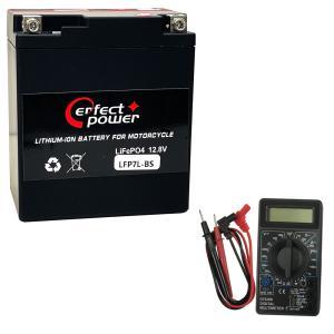 【デジタルテスターセット】 PERFECT POWER リチウムイオンバッテリー LFP7L-BS 【互換 ユアサYUASA YTX7L-BS FTX7L-BS】 即使用可能 ジャイロキャノピー|baikupatuhakase