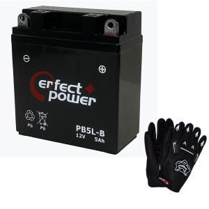 【グローブ付】 PERFECT POWER PB5L-B バイクバッテリー充電済 【互換 ユアサ YB5L-B FB5L-B 12N5-3B GM5Z-3B】|baikupatuhakase