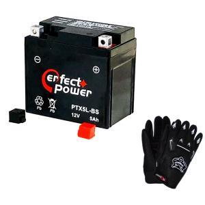 【グローブ付】 PERFECT POWER PTX5L-BS バイクバッテリー充電済 互換 YTX5L-BS DTX5L-BS FTX5L-BS GTX5L-BS|baikupatuhakase