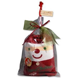 クリスマス お菓子 プチギフト プレゼント クリスマス ほっこりサンタ巾着バッグ
