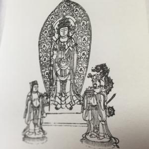 #521 長谷寺十一面観音三尊図(木版手摺)