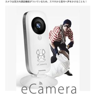 セキュリティカメラ イーカメラ eCamera 防犯カメラ ネットワークカメラ 小型 ペットカメラ 監視カメラ ワイヤレス スマホ ペット カメラ 留守 見守り|bakaure-onlineshop|08