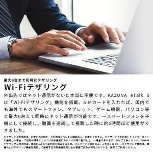 KAZUNA eTalk5 購入特典付 グローバル通信 2年 SIMカード同梱版 bakaure-onlineshop 07
