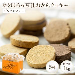 5種類フレーバー配合 豆乳おからクッキー 1kg  小麦粉不使用! 話題のグルテンフリークッキー 人...