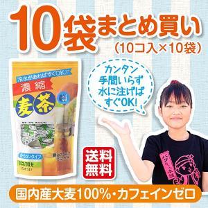 麦茶ポーション 水やお湯を注ぐだけで美味しい麦茶が出来上がる:濃縮麦茶ポーション 19g×10p×10袋