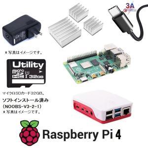 ラズベリーパイ4/4GB Raspberry Pi4 4GB Element14 UK製 6点セット...