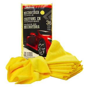 KIRKLAND マイクロファイバータオル 36枚 厚織り 超吸水 洗車 拭き上げ 磨き上げ 掃除 大判 ウエス 雑巾 速乾 まとめ買いの画像