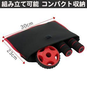 バランスワン 腹筋ローラー(携帯式コンパクトタイプ) 膝マット兼ポーチ付