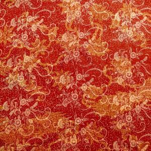 バティック 布 生地 マルチカバーに最適 インドネシア ジャワ 更紗 プリントバティック 花のモチーフ パターン2の写真