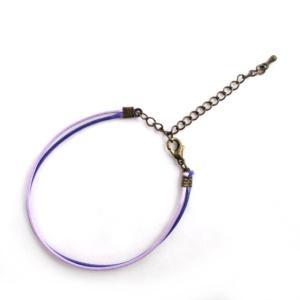革ヒモ風2連ブレスレット/薄紫×紫/金古美|balletesther