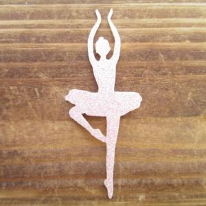 ラメバレリーナパッセ/ワッペン/アイロン接着|balletesther
