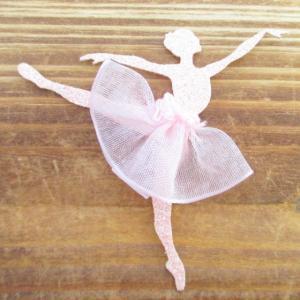 ラメバレリーナチュチュ/ワッペン/アイロン接着|balletesther