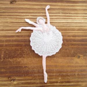 白鳥の湖オデット ワッペン/アイロン接着|balletesther