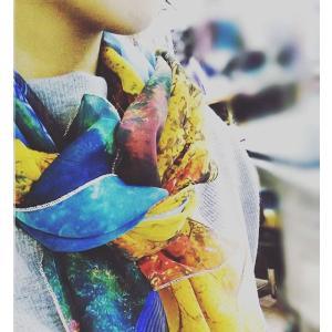 三室戸寺 〜錦繍〜 水野克比古 大判スカーフ 日本製 京都 写真 Ballett ballett