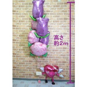 開店祝い 贈り物 誕生日 成人式 お祝い バルーン電報 記念日 古希 エレガントなバラの花束を持った天使のにこちゃん 【佐川急便】|balloon-shop