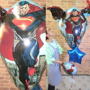 バルーン電報 結婚式 スーパーマン 電報 お祝い 贈り物 開店祝 電報 誕生日 記念日 【佐川急便】|balloon-shop