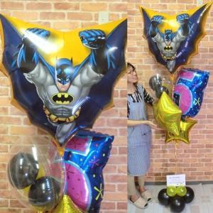 周年祝い バルーン バットマンバルーン電報 誕生日 サプライズ お祝い 男の子 周年 ヘリウムガス缶付き【佐川急便】|balloon-shop
