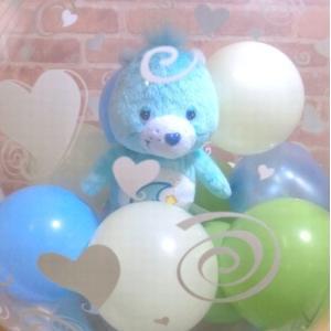 バルーン電報 ケアベアたまごバルーン電報 誕生日 お祝い 結婚式 電報 女性 |balloon-shop